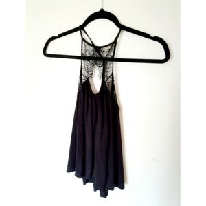 Urban Outfitters Lace Keyhole Tank